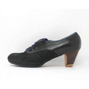 Carmela 41 A Suede Navy Clásico 5 Visto Atrás Leather Negro