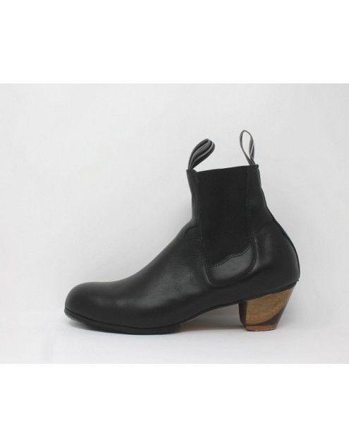Boto 41.5 AA Leather Negro Cubano 5 Visto