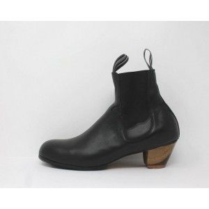 Boto 41.5 AA Leather Negro Cubano 5 Visto