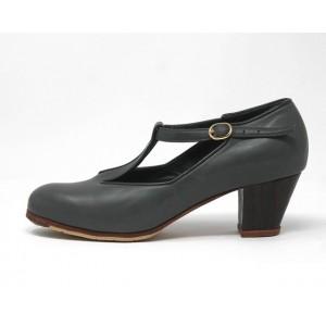 Sandalia 39,5 A Leather Gris Cubano 5 Visto