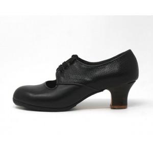 Carmela 39 A+PR Leather Negro Carrete 5 Visto Atrás Fantasía
