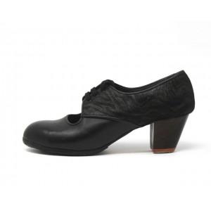 Carmela 39,5 A+PR Leather Negro Cubano 5 Visto Atrás Charlot