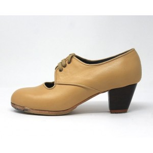 Carmela 37 AA Leather Beige Cubano 5 Visto