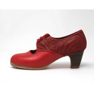 Carmela 37,5 AA Leather Rojo Sangre Clásico 5 Visto Atrás Charlot