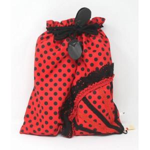 Flamenco Bag Shoe holder Roja Lunares Negro