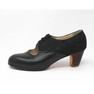 Carmela 39,5 AA Leather Negro Clásico 5 Visto Atrás Encaje