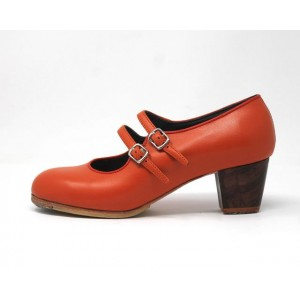 Manuela 38 AA Leather Naranja Jerezano 5 Visto