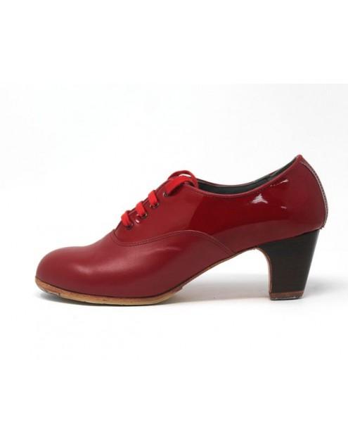 Chapín Mujer 39,5 A+PR Leather Rojo Clásico 5 Visto Atrás Charol