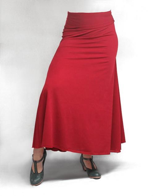 Falda Básica 3 Godets Rojo