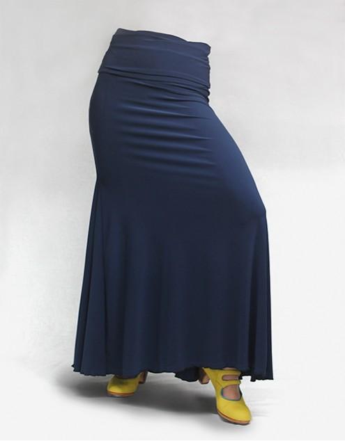 Falda Básica 3 Godets Azul Marino