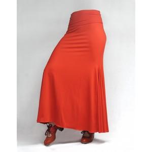 Skirt Basic 3 Godets Orange