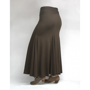 Skirt Basic 3 Godets Brown