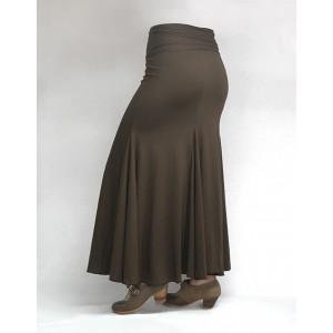 Skirt Basic 3 Godets Brown
