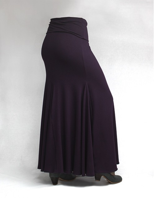 Skirt Basic 3 Godets Morado
