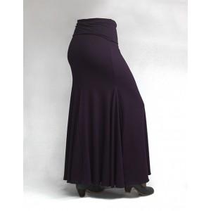 Skirt Basic 3 Godets Morado