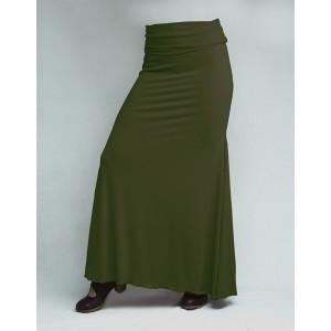 Skirt Basic 3 Godets Kaki