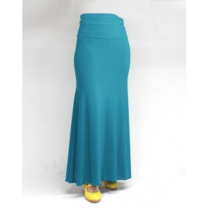 Skirt Basic 3 Godets Turquesa