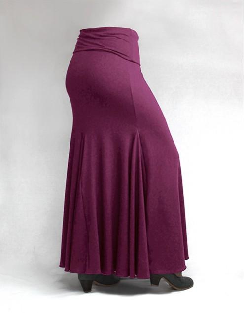 Skirt Basic 3 Godets Magenta