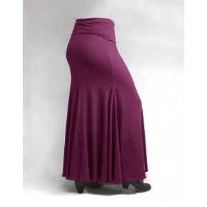 Skirt Basic 3 Godets Magenta