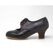 Carmela 34,5 AA Leather Negro Carrete 5 Visto Atrás Serpiente 25