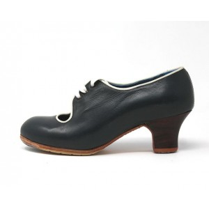 Carmen 34 AA+PR Leather Navy Carrete 5 Visto Ribete Marfil