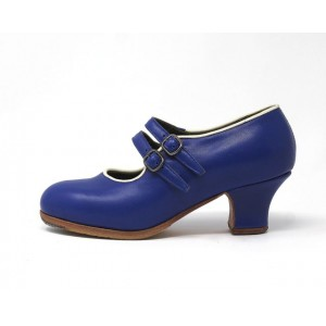 Manuela 34 A Leather Azulon Carrete 5 Forrado Ribete Marfil