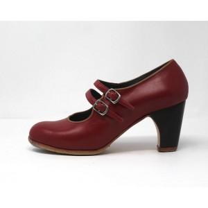 Manuela 39 AA Leather Rojo Clásico 6 Visto Ribete Camel