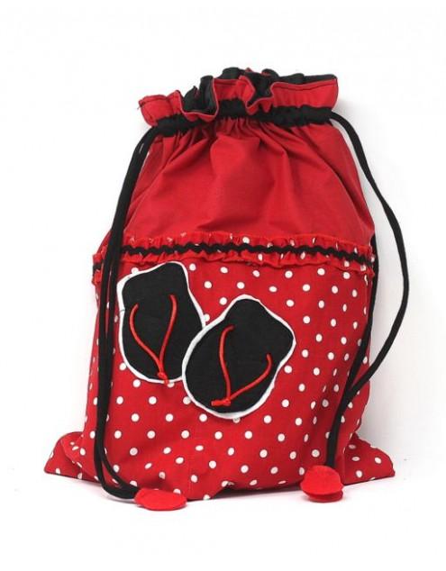 Flamenco Bag Shoe Holder Roja Lunares Blanco