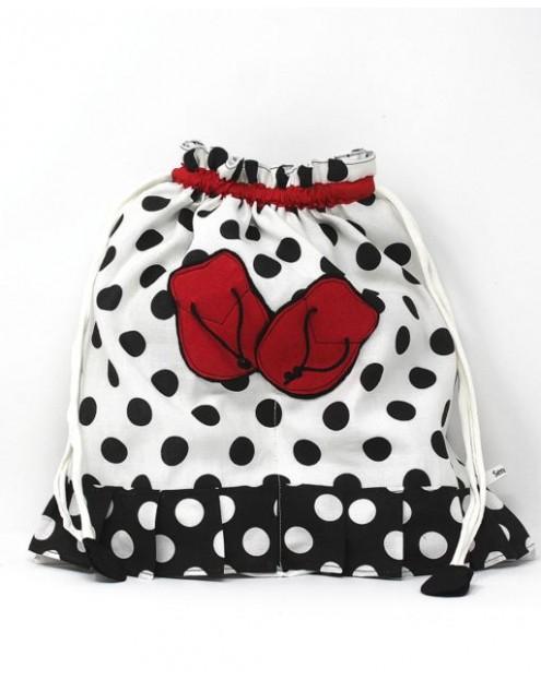 Flamenco Bag Shoe Holder Blanco Lunares Negro 2