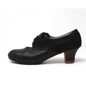 Carmela 40,5 A Leather Negro Carrete 5 Visto Atrás Avestruz