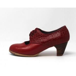 Carmela 35,5 A+PR Leather Rojo Sangre Clásico 5 Visto Atrás Coco