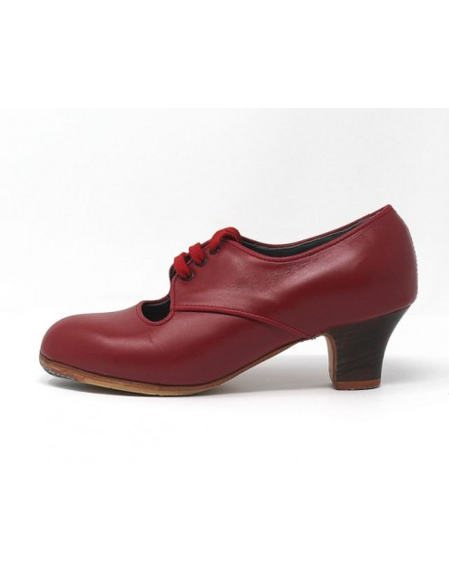 Carmela 36.5 AA Leather Rojo Carrete 5 Visto