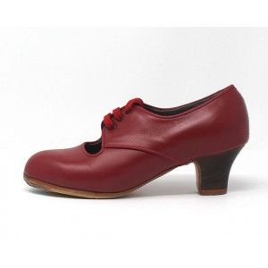 Carmela 36.5 AA Leather Rojo Carrete 5 Visto