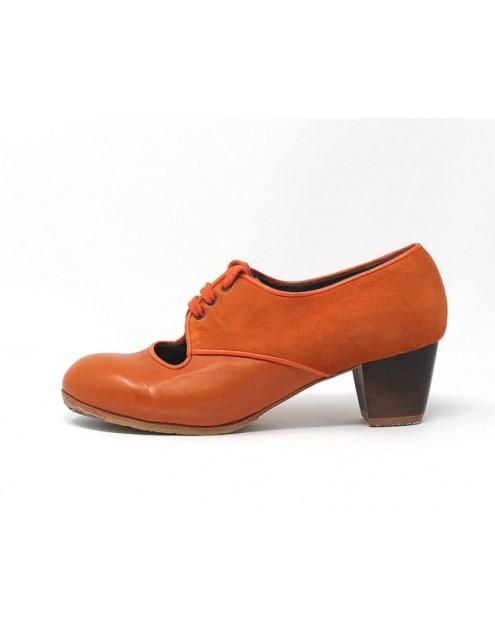 Carmela 37 A+PR Leather Naranja Jerezano 5 Visto Atrás Suede