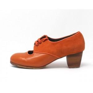 Carmela 37 AA+PR Leather Naranja Jerezano 5 Visto Atrás Suede