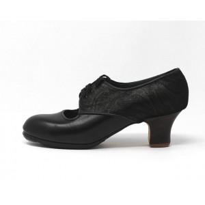 Carmela 38 A Leather Negro Carrete 5 Visto Atrás Fantasía