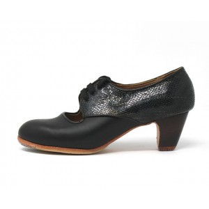 Carmela 39,5 A Leather Negro Clásico 5 Visto Atrás Serpiente Fantasía