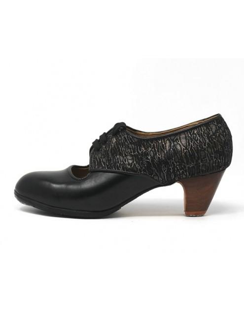 Carmela 39,5 A Leather Negro Clásico 5 Visto Atrás Fantasía