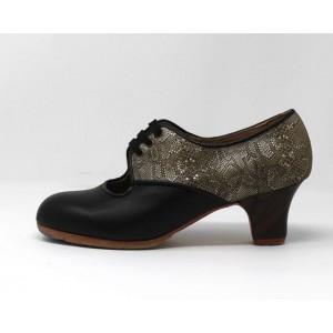Carmela 36,5 AA+PR Leather Negro Carrete 5 Visto Atrás Stola Kak
