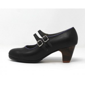 Manuela 35 A Leather Negro Clásico 5 Visto R. Morado