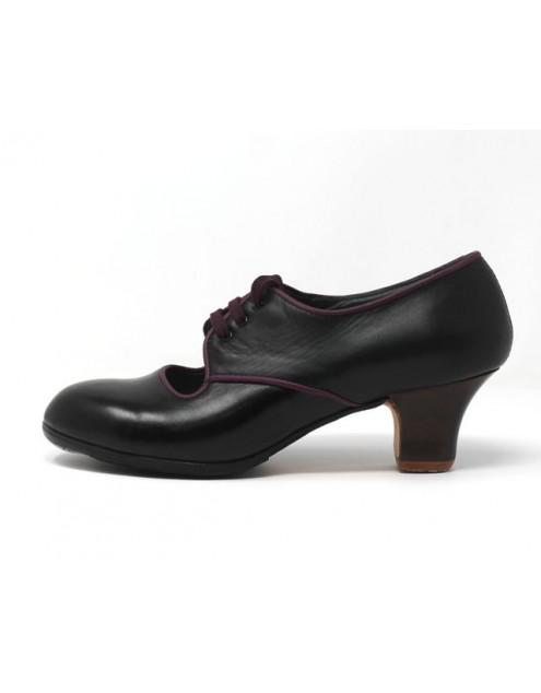Carmela 40 AA+PR Leather Negro Carrete 5 Visto R. Magenta