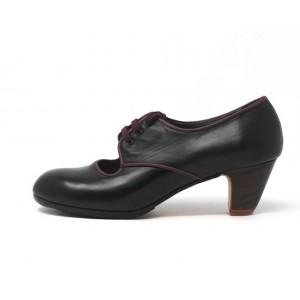 Carmela 40 AA+PR Leather Negro Clásico 5 Visto R. Magenta