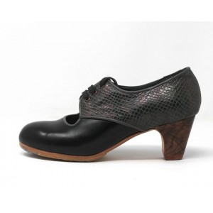Carmela 35,5 AA+PR Leather Negro Clásico 5 Visto Atrás Serpiente 15