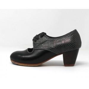 Carmela 34 A+PR Leather Negro Cubano 5 Visto Atrás Serpiente 15