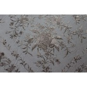Silk Shawl 140x140cm Negro Bordado Negro