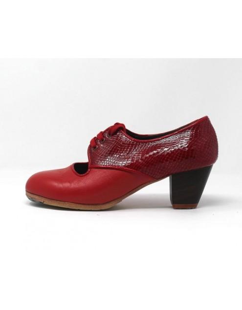 Carmela 37,5 A+PR Leather Coral Cubano 5 Visto Atrás Coco Rojo Oscuro