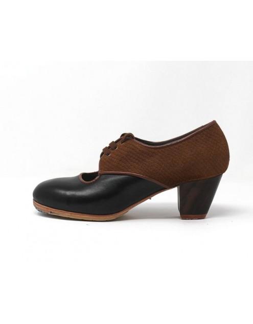 Carmela 36,5 AA+PR Leather Negro Cubano 5 Visto Atrás Serpiente 22