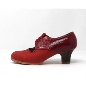Carmela 37,5 A Leather Rojo Claro Carrete 5 Visto Atrás Coco Rojo Oscuro