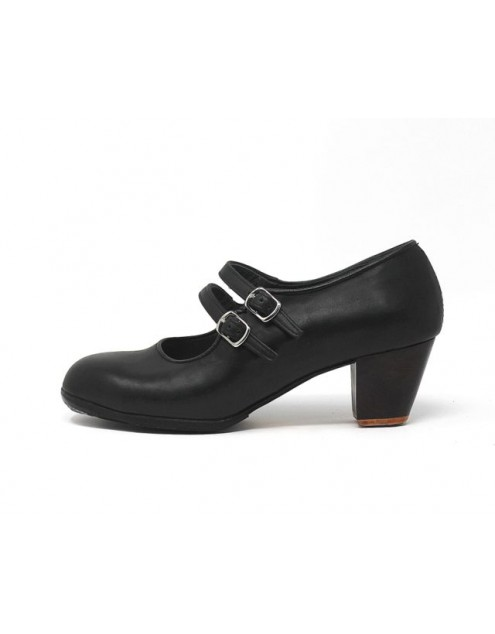 Manuela 39 AA Leather Negro Cubano 5 Visto