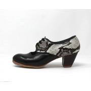 Carmela 39,5 AA Leather Negro Cubano 5 Visto Atrás Serpiente 29